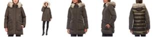 Vince Camuto Faux-Fur-Trim Hooded Water-Resistant Parka Coat