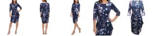 Jessica Howard Cascading-Ruffle Dress