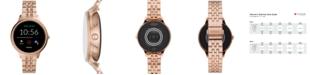 Fossil Women's Gen 5E Rose Gold-Tone Stainless Steel Bracelet Touchscreen Smart Watch 42mm