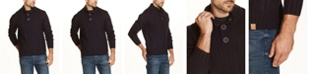 Weatherproof Vintage Men's Military Button Mock Sweater