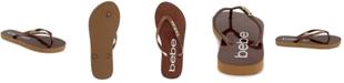 bebe Women's Tracee Glitter Thong Sandals