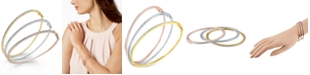 Macy's Diamond Bangle Bracelet Trio in 14k Gold and 14k Rose Gold over Sterling Silver and Sterling Silver (1/4 ct. t.w.)