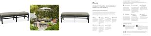 Furniture CLOSEOUT! Marlough Aluminum Outdoor Bench