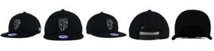 New Era Kids' San Francisco Giants Black White 9FIFTY Snapback Cap