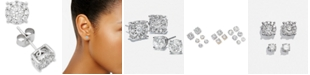 Macy's Diamond Halo Stud Earrings (1 ct. t.w.) in 14k Gold, White Gold or Rose Gold