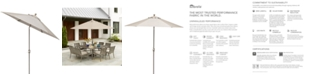 Furniture Wayland Outdoor 9' Auto-Tilt Umbrella,  with Sunbrella® Fabric, Created for Macy's