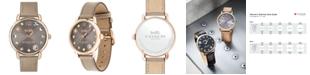 COACH Women's Delancey Gray Leather Strap Watch 36mm