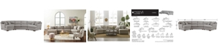 Furniture CLOSEOUT! Carena 3-Pc. Fabric Sectional Sofa with Double Cuddler Chaise and Armless Loveseat, Created for Macy's