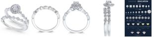 Macy's Diamond Halo Bridal Set (3/8 ct. t.w.) in 14k White Gold