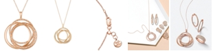 """Le Vian Strawberry & Nude™ Diamond Interlocking Rings 18"""" Pendant Necklace (1 ct. t.w.) in 14k Rose, Yellow or White Gold"""