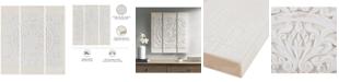 JLA Home Madison Park Mandala White 3-Pc. 3D Embellished Canvas Wall Art Set