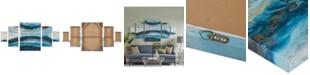 JLA Home Madison Park Midnight Tide Blue 5-Pc. Gel-Coated Canvas Print Set