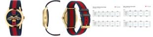 Gucci Unisex Swiss Le Marché des Merveilles Blue-Red-Blue Web Nylon Strap Watch 38mm