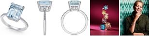 EFFY Collection EFFY® Aquarius Aquamarine (3-3/4 ct. t.w.) and Diamond (1/6 ct. t.w.) Ring in 14k White Gold