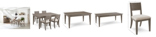 Homefare Tribeca Grey Expandable Dining Furniture, 5-Pc. Set (Dining Table & 4 Side Chairs), Created for Macy's