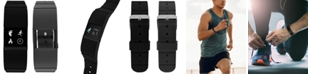iTouch iFitness Men's Pulse Gray & Black Silicone Strap Smart Watch 18x20mm