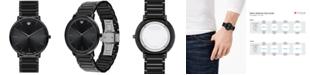 Movado Men's Swiss Ultra Slim Black PVD Stainless Steel Bracelet Watch 40mm