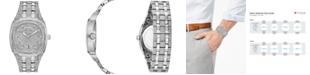 Bulova Men's Stainless Steel & Crystal-Accent Bracelet Watch 40mm