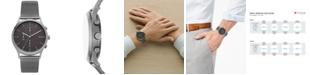 Skagen Men's Chronograph Jorn Smoke Stainless Steel Mesh Bracelet Watch 41mm