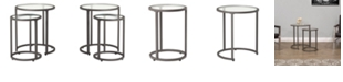 Studio Designs Home Camber Glass Nesting Tables, Set of 2