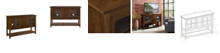 "Walker Edison 52"" Wood Console Table Buffet TV Stand - Walnut"