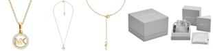 Michael Kors Women's Custom Kors Sterling Silver Logo Starter Necklace