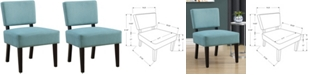 Monarch Specialties Accent Chair - Teal Fabric