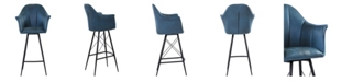 Moe's Home Collection Olivier Counter Stool Blue