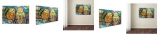 "Trademark Global Oxana Ziaka 'Byzantine Owls' Canvas Art - 19"" x 12"" x 2"""