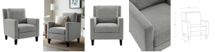Walker Edison Pillow Back Accent Chair in Grey