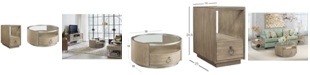 Furniture Esme Table Furniture, 2-Pc. Set (Round Coffee Table & Chairside Table)