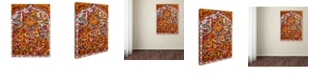 "Trademark Global Oxana Ziaka 'Russian Red Cat 2' Canvas Art - 19"" x 14"" x 2"""