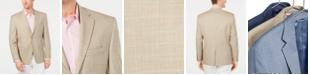 Lauren Ralph Lauren Men's Classic-Fit UltraFlex Stretch Tan/Blue Windowpane Sport Coat