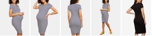 Motherhood Maternity Rib-Knit Sheath Dress