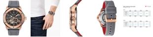 Bulova Men's Automatic Marine Star Gray Silicone Strap Watch 45mm
