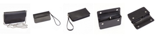 EMPORIUM LEATHER CO Royce Chic RFID Blocking Women's Wristlet Convertible Cross Body Bag in Genuine Leather