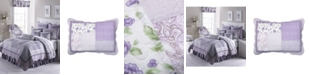 American Heritage Textiles Lavender Rose Cotton Quilt Collection, King