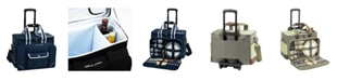 Picnic At Ascot Ultimate Picnic Cooler for 4 with Accessories and Wheeled Cart