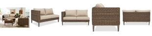 Furniture La Palma Outdoor Right-Armed Loveseat Sectional, Created For Macy's