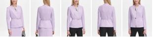Calvin Klein Petite Belted Collarless Blazer