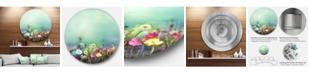 "Design Art Designart 'Dandelion Poppy And Daisy Flowers' Disc Floral Metal Circle Wall Art - 38"" x 38"""