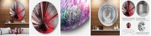 "Design Art Designart 'Fractal 3D Deep Into Middle' Abstract Circle Metal Wall Art - 38"" x 38"""