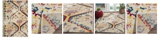 """Safavieh Watercolor Light Yellow and Blue 5'3"""" x 7'6"""" Area Rug"""