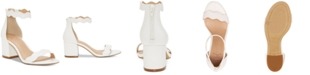 INC International Concepts INC Women's Hadwin Scallop Two-Piece Sandals, Created for Macy's