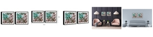 "Chic Home Decor Cavali 2 Piece Framed Canvas Wall Art Abstract Design -15"" x 31"""