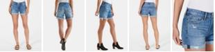Lucky Brand Cotton Distressed Boyfriend Shorts