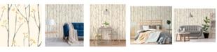 "Brewster Home Fashions Ingrid Scandi Tree Wallpaper - 396"" x 20.5"" x 0.025"""