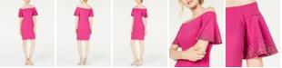 Calvin Klein Embellished Off-The-Shoulder Sheath Dress