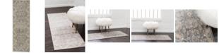Bridgeport Home Bellmere Bel6 Gray 2' x 6' Runner Area Rug