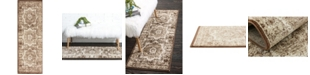 Bridgeport Home Linport Lin7 Chocolate Brown 2' x 6' Runner Area Rug